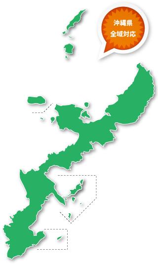 沖縄県のマップ